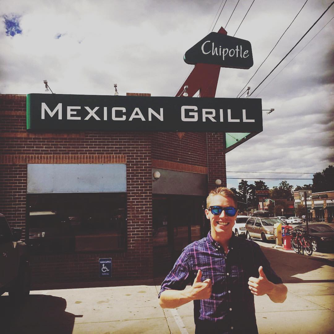 Two thumbs up for the original #Chiptole #Mexican Grill! #burrito #waveborn #hungry #lunchtime #delicious #guac