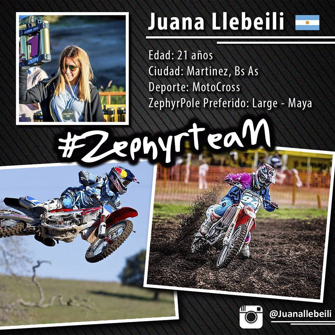 @juanallebeili ya pertenece al #ZephyrTeam! Deporte: MotoCross
