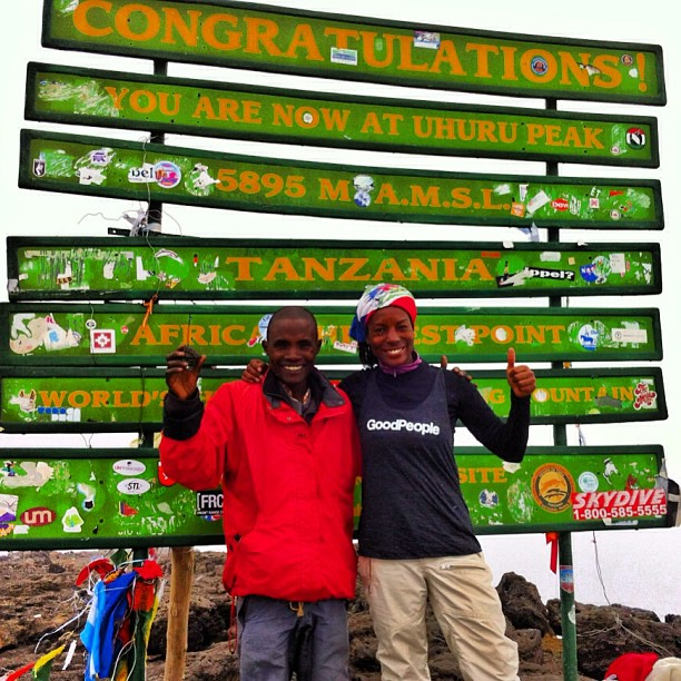 Yew! Congrats to Misty from @flipsidefresh for trucking all the way up #mtkilimanjaro and bringing #goodpeople along for the #adventure #gobigdogood