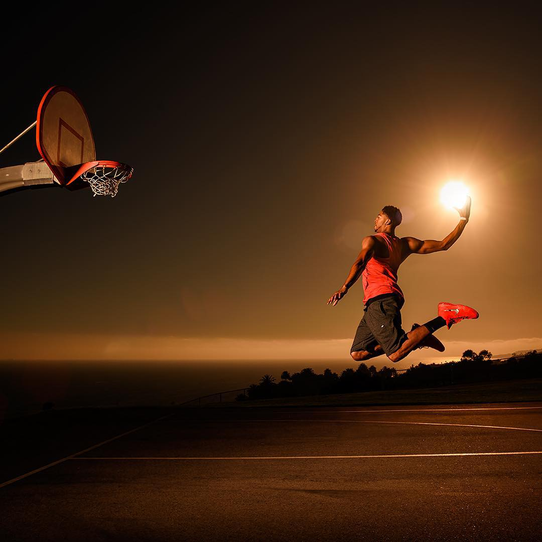 The sun doesn't set itself. #DunkTheSun @antdavis_23