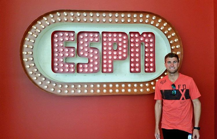 We're kickin' it with #ESPYS Best Male Action Sports Athlete @RyanDungey at ESPN headquarters in Bristol, Conn.
