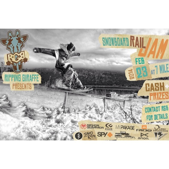 Smokin team rider @justjbritton tail pressing in this flyer for a contest up in Canada at #7mile ski resort, check it out February 3-4, sponsored by Smokin Snowboards as well as a host of others- gonna be a great time! #forridersbyriders...