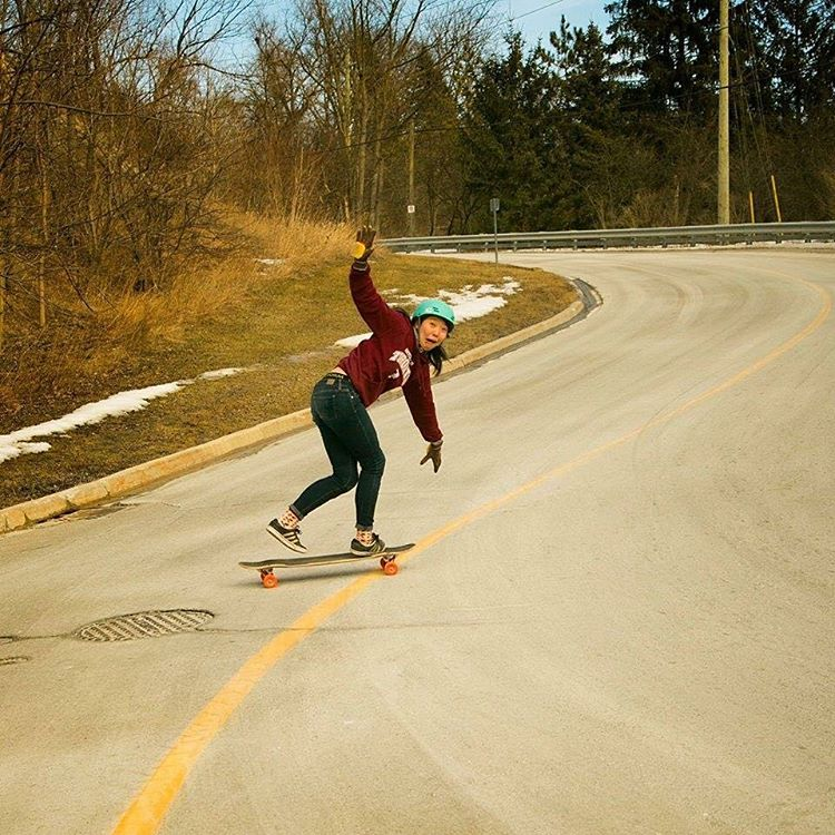 Happiest of bdays to the one & only @iamcindyzhou ! We love you buddy!  @jonathan_nuss photo  #ouch #longboardgirlscrew #womensupportingwomen #skatelikeagirl #cindyzhou