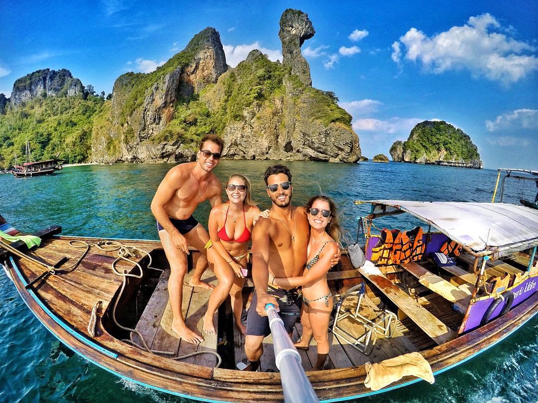 Group selfie in Thailand. Photo: @gugachaves GoPro HERO4 | GoPole Reach #gopro #gopole #gopolereach #selfie #thailand