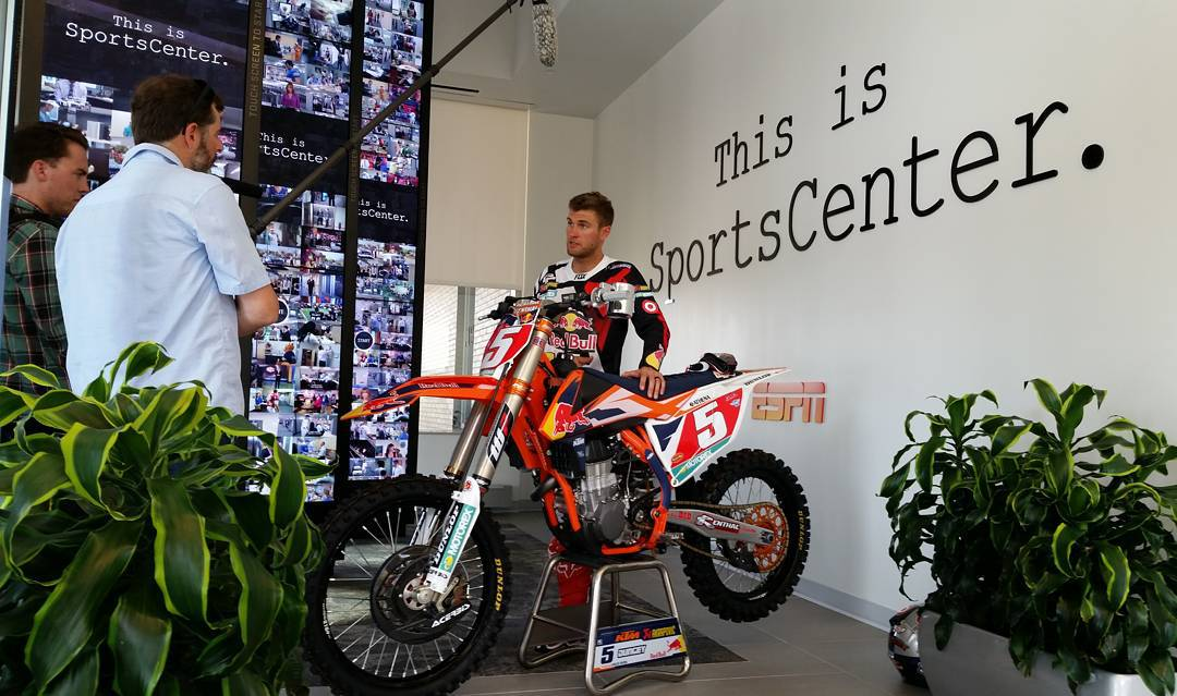 @RyanDungey's Ride • 450cc engine • 21-inch front wheel • 19-inch rear wheel • Dunlop tires • Brembo brakes • $75,000