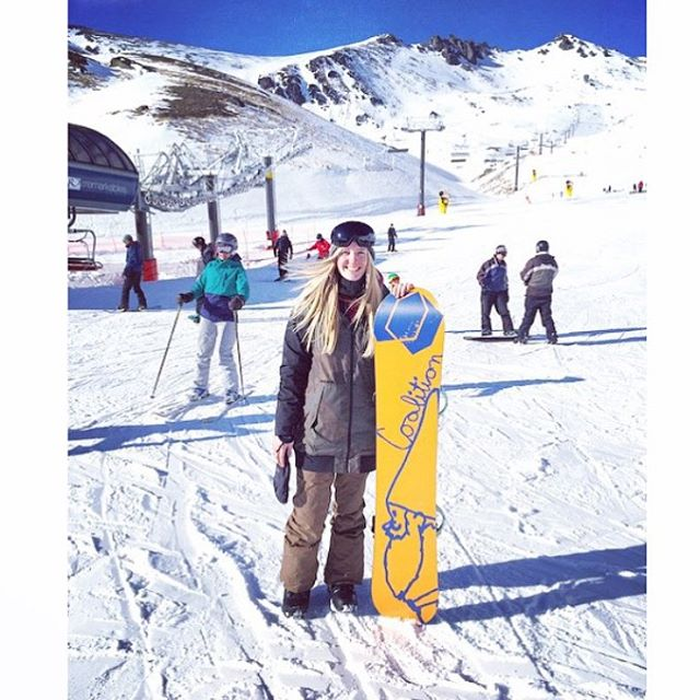 You'd look great on this board.    Ambassador @tarynlomas with her super styley board.  #sisterhoodofshred #snowboarding #feelgoodlookgood  www.coalitionsnow.com