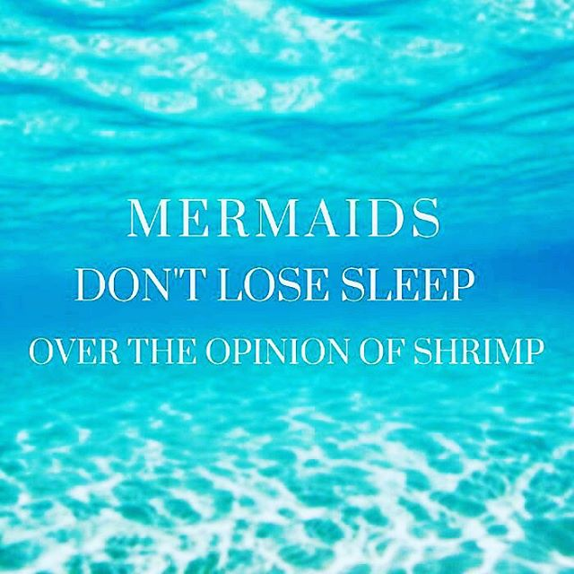 Sweet dreams, fellow mermaids