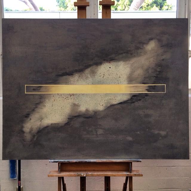 Internet photos of minimal paintings suck. #shittydigitalstills #abstraction #minimal #ambrosia #oilpaint #tapeoff #splatter #finefarts #seeingisforgettingthenameofthethingonesees