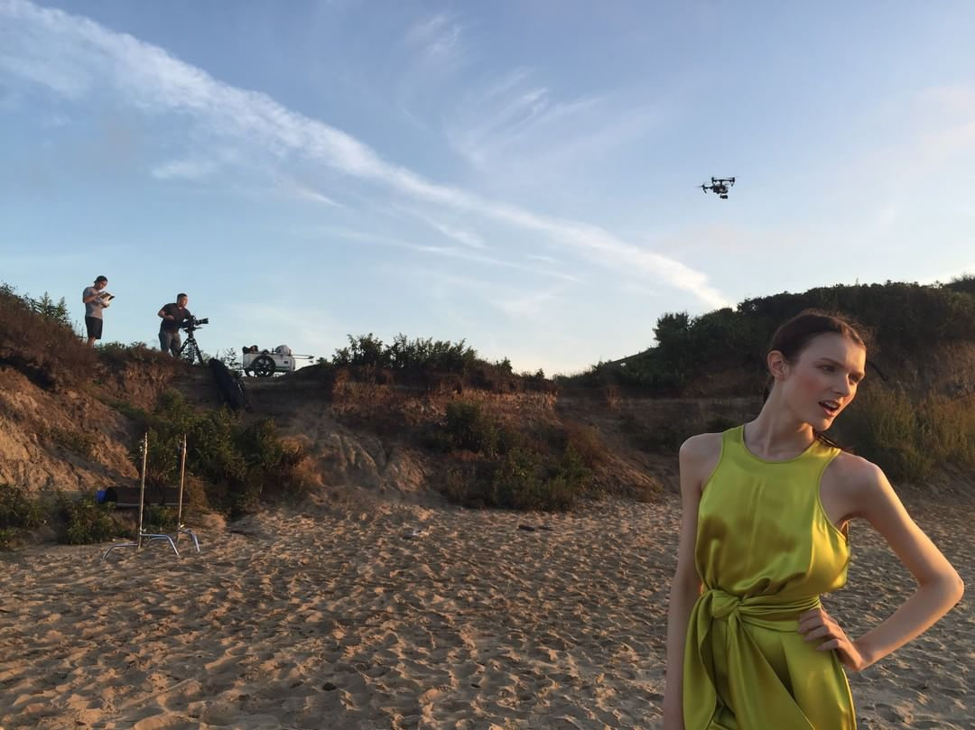 The catwalk and the #DJI #inspire1.  @Cynthia_Rowley Spring 2016. #inspireThursdays #Zenmuse #X5 #IamDJI