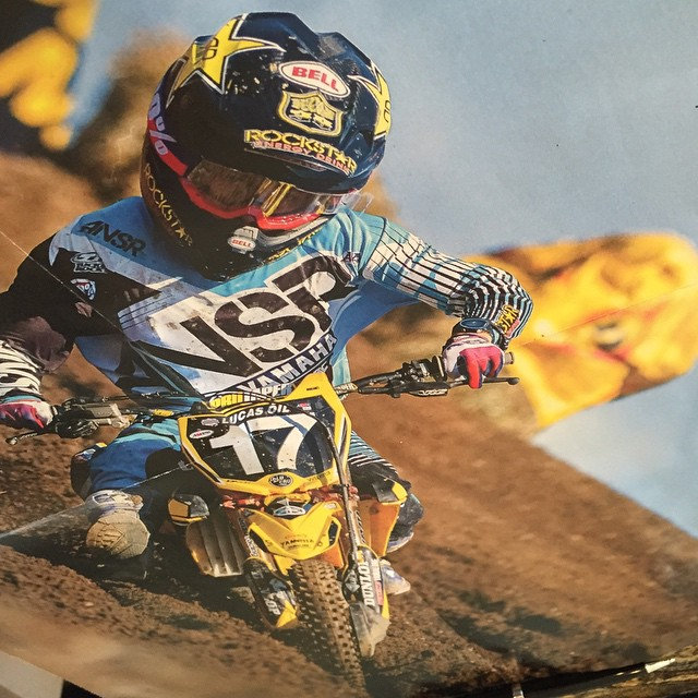 Check out this pewee rider that looks like @cooperwebb_17 . #Deegan38