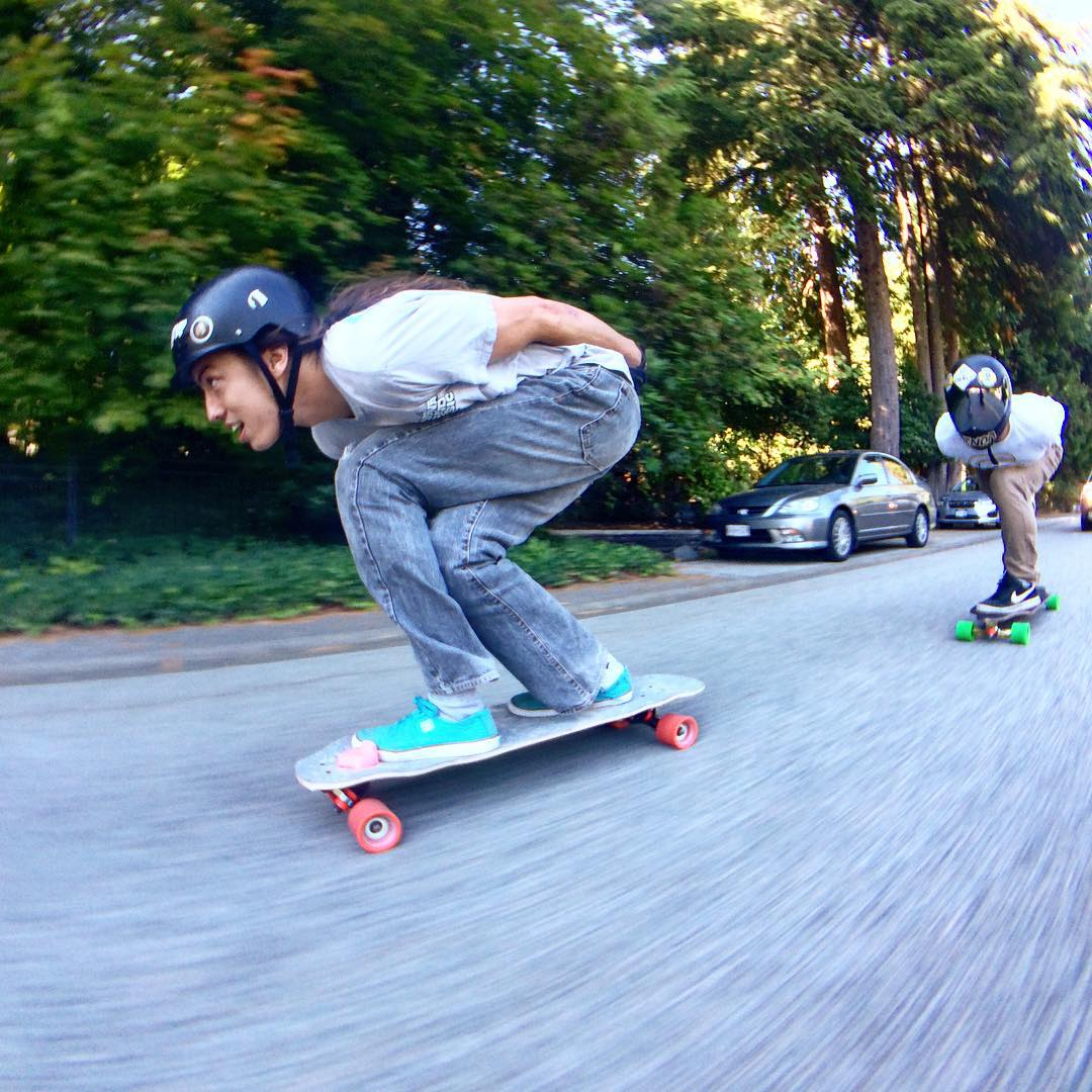 @dcarlsonskate leads the pack strong on his #raynefortune  Keep an eye out for him this weekend at @whistlerlbfest
