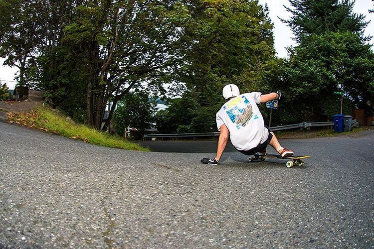 Fun two days skating Seattle with Santa Barbara skater Sean Woolery (@seanwoolery18) and now we are packing the van getting ready to head up to Whistler for the weekend with @speedscientist @aidan_gilbert @grahams.grams and @equalmotion #longboard...
