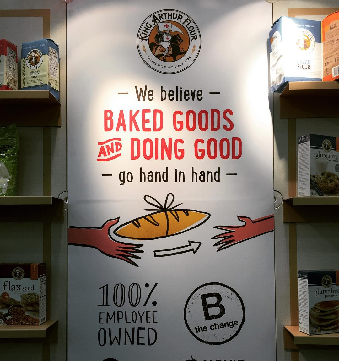 Looking good @kingarthurflour at Expo East! #BtheChange ... Happy 225th Birthday!