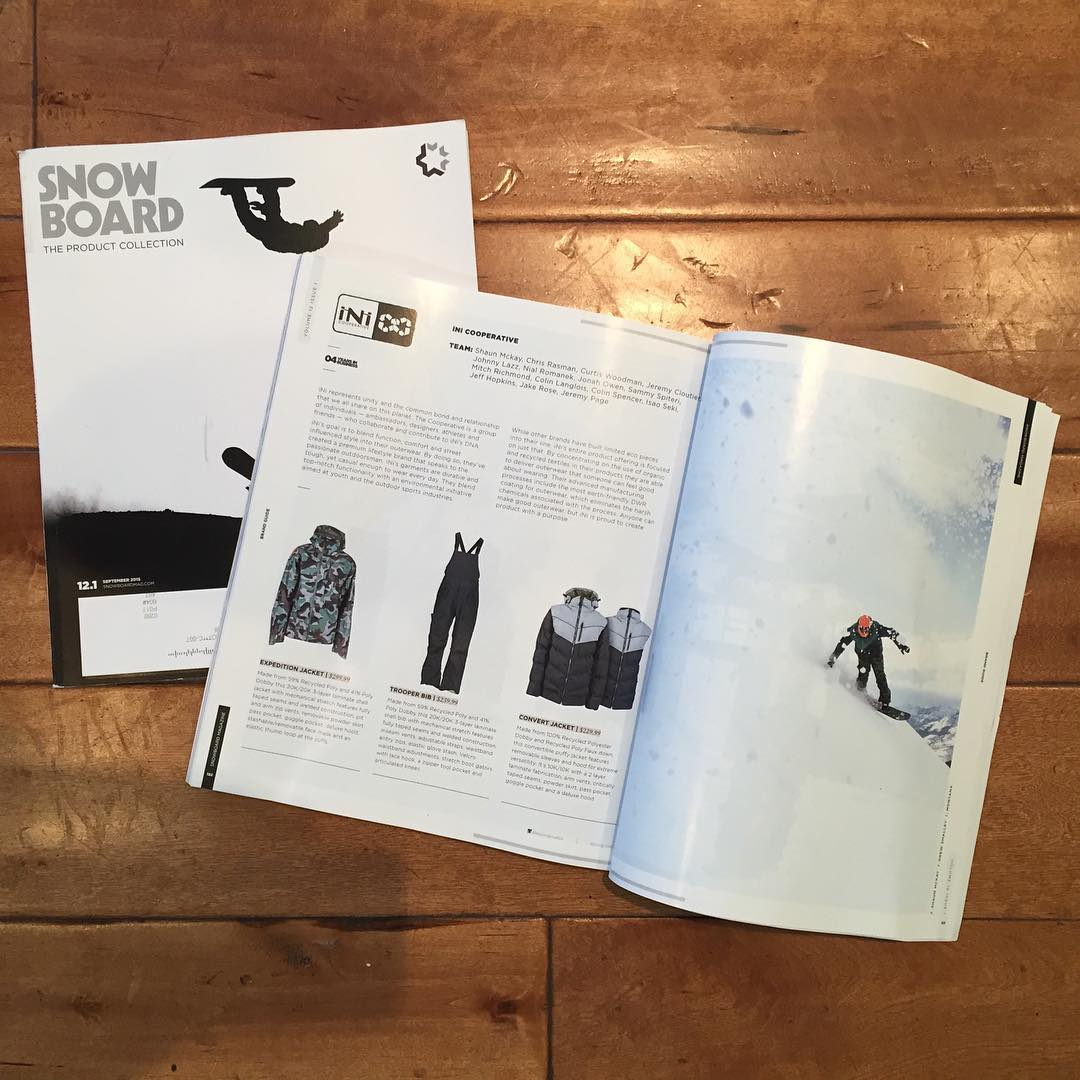 @snowboardmag Gear Guide on shelves now. Pick up a copy to check out the best of the best for NEW 2016 Gear. #MindfullyManufactured ♻️ #WinterIsComing so get prepared #TrooperBib