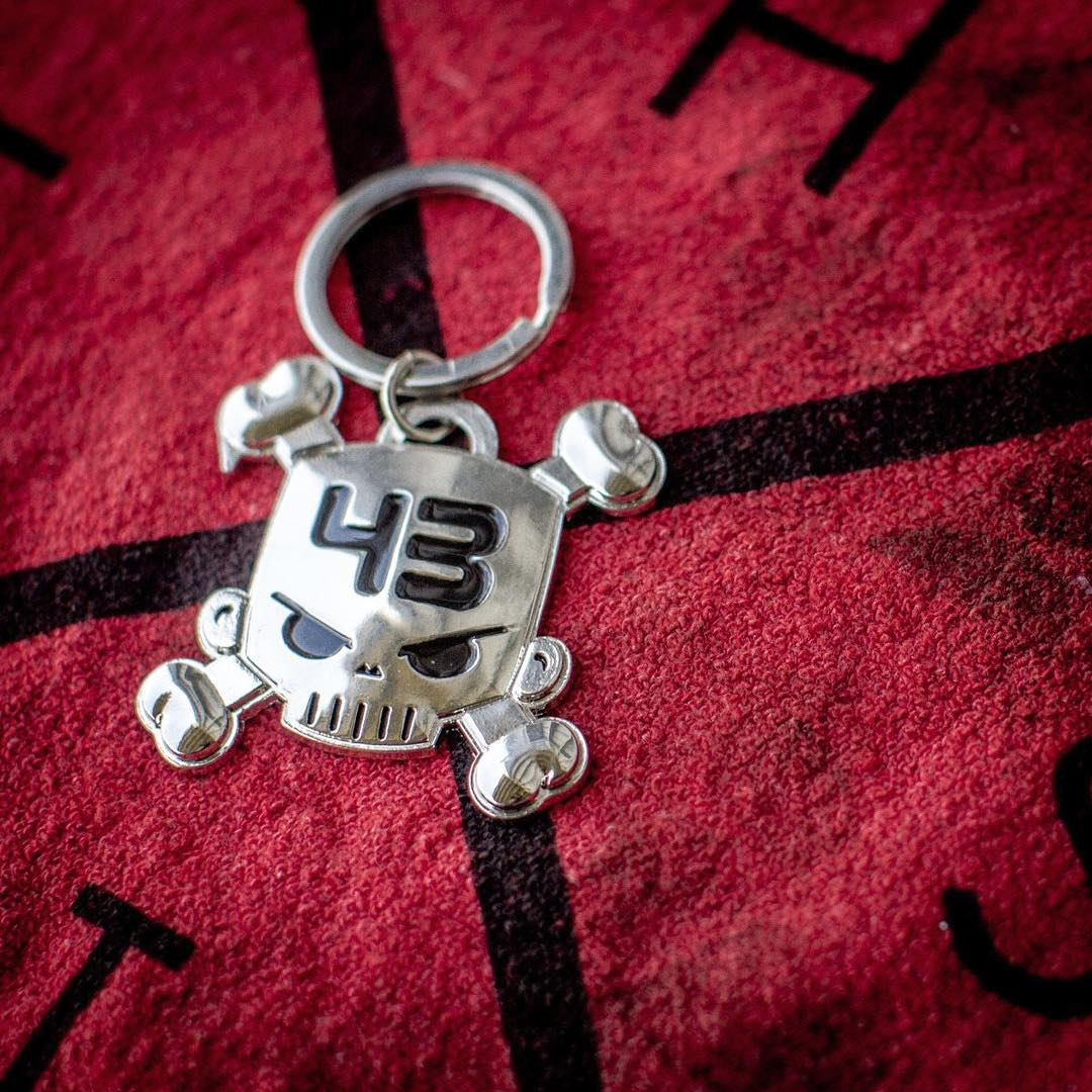 "CODE: ""BLOCKSKULL"". Just enter that during checkout at #‎HooniganDOTcom with any purchase of $30 or more, and you'll get one of these hefty metal ""Block Skull"" keychains thrown in for free. Offer ends in just two weeks, so act fast! #supporthooniganism"