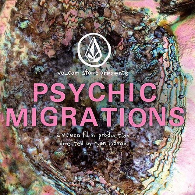Hoy es la presentación  mundial de #psychicmigrations desde New Port Beach #CA, estén atentos muy pronto se proyecta en Argentina. @volcom #gosurfalready