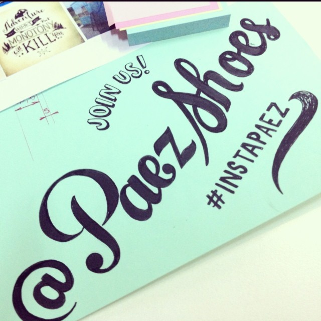 Who said handwritting was dead? #oldschool #Paez #logo #instagram #design #shoes #art #script #doodle #play