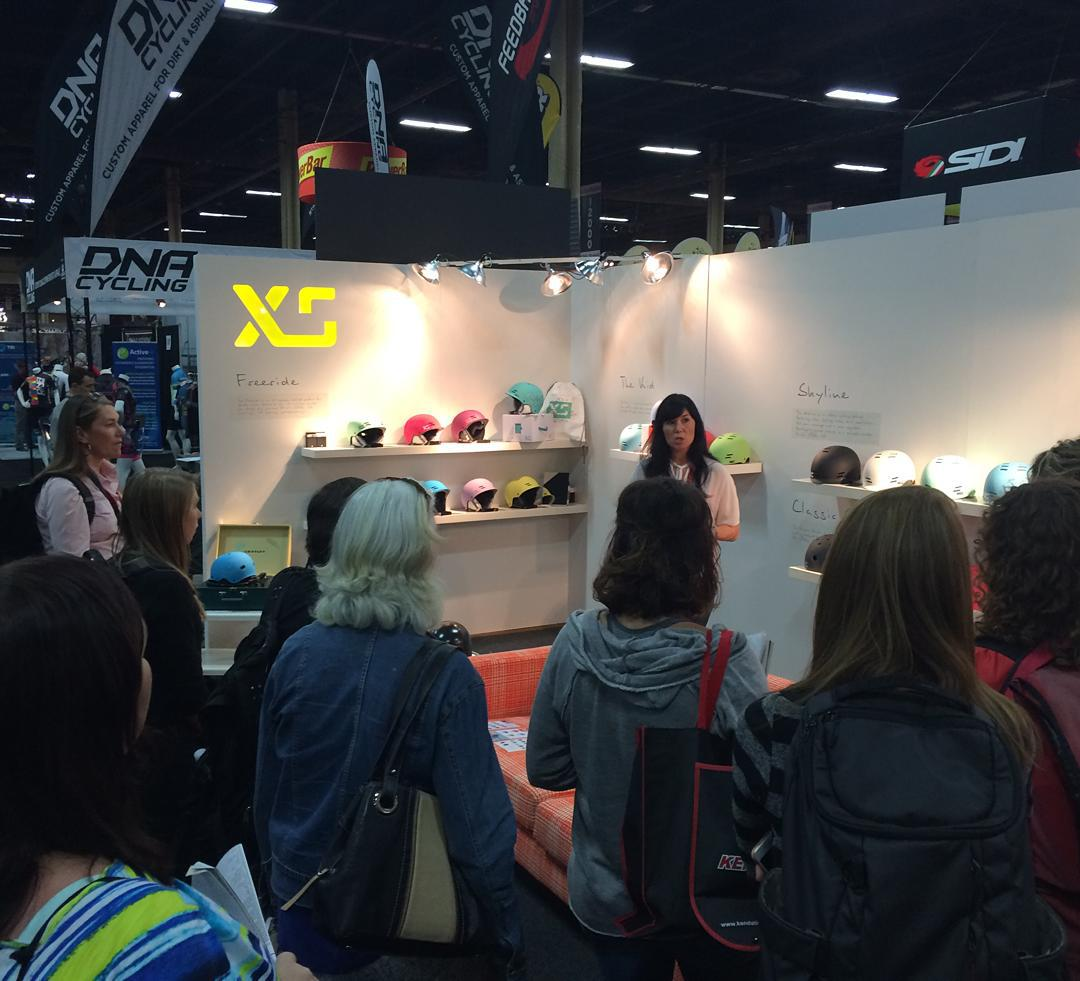 Thank you Mercedes Ross of Merchandising Werx for including us in your show tour today! #interbike2015 #xshelmets