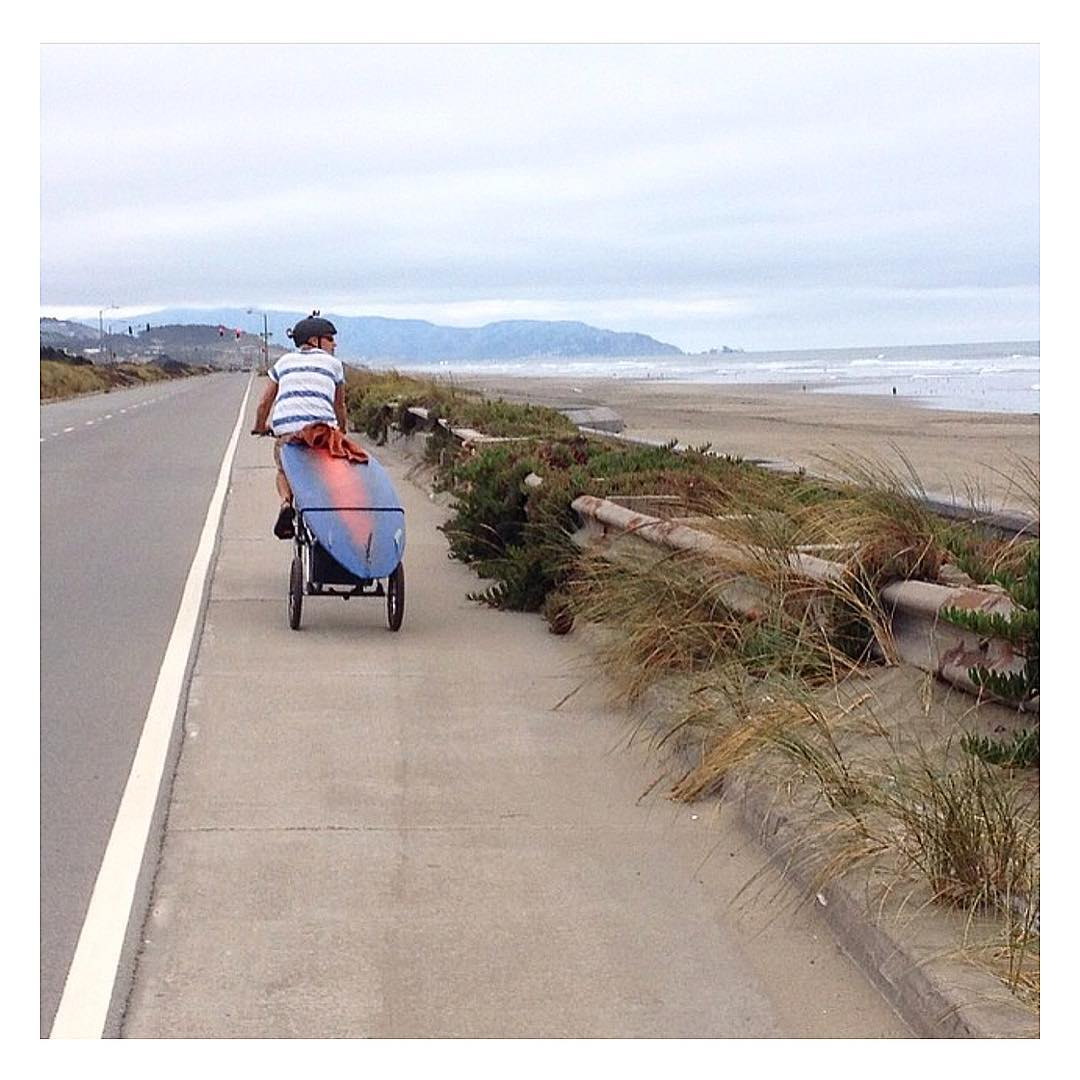 It's still #biketosurf week... or everyday like @cricket_415