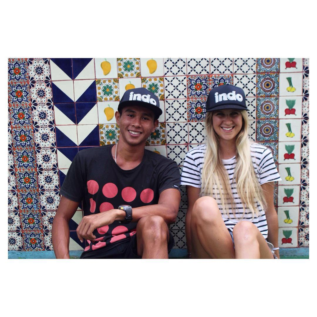 #IndoHat twinsies - cafe hangs with Made Mariasa & @kenyadrake ✌️ #goodvibesonly #Indosole #TiresToSoles #SolesWithSoul