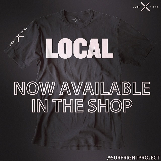 COLD WATER THREADS: Everyone's a local somewhere...Tell them who's boss, just don't forget to take it off when you travel. That might get you in trouble with the locals.  Available online and in most good surf shops. www.surfrightproject.com #local...
