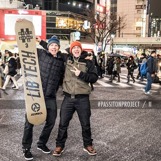 The new #passitonproject is ON! This time we've teamed up with @libtechnologies to make 3 very special numbered editions of @travisrice's 2014/15 Goldmember board which we've just set free into the snowboard universe. Where they go now is anyone's...