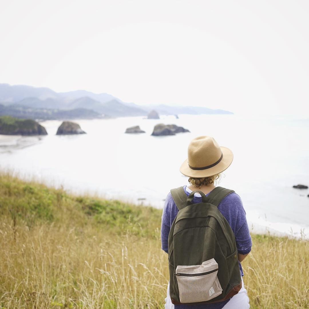 Find space for authentic experience. #estwst #backpack #connectglobally #travel #oregoncoast #liveauthentic