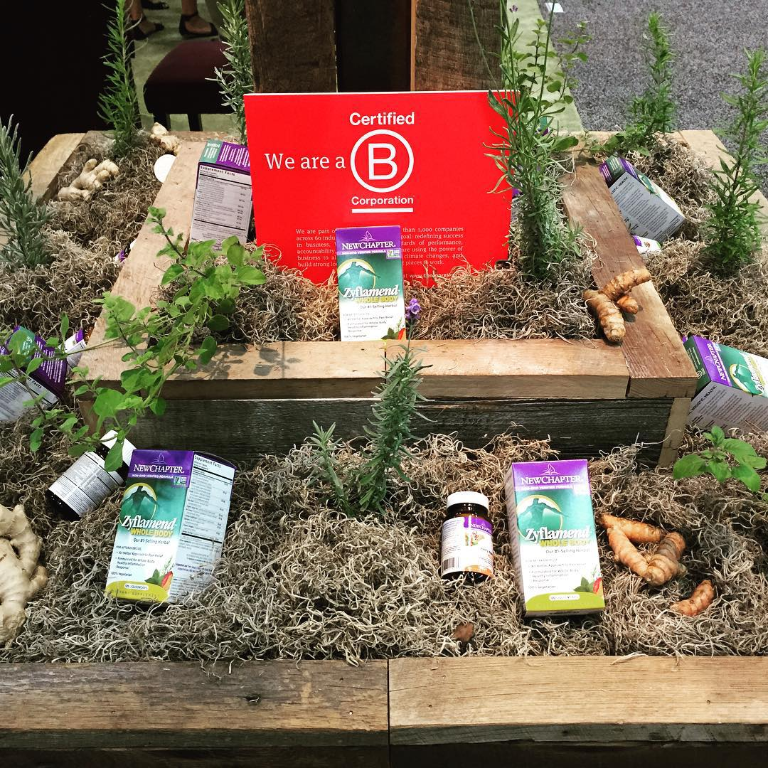 A garden of goodness with #newchaptervitamins #BCorp #BtheChange
