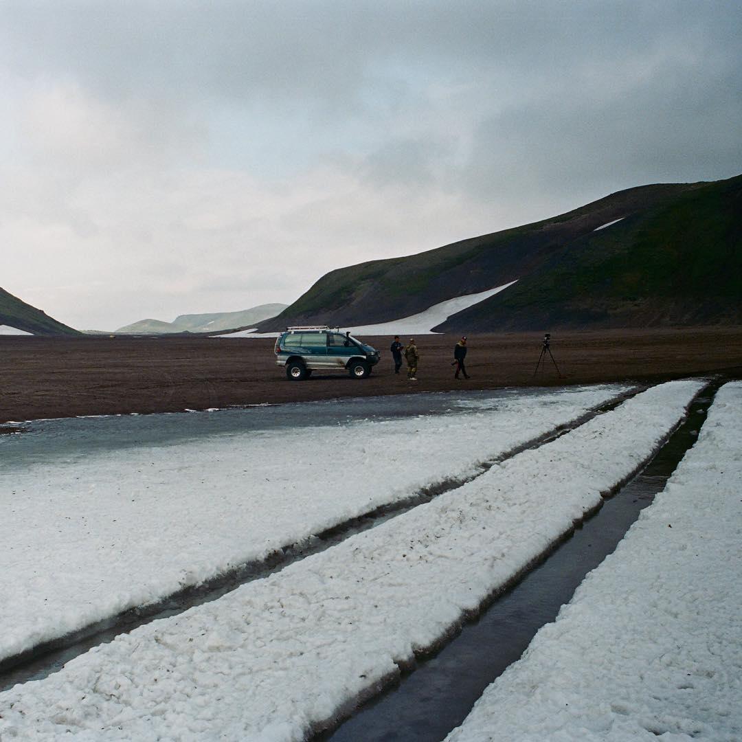 Leftover snowfields #soggysocks