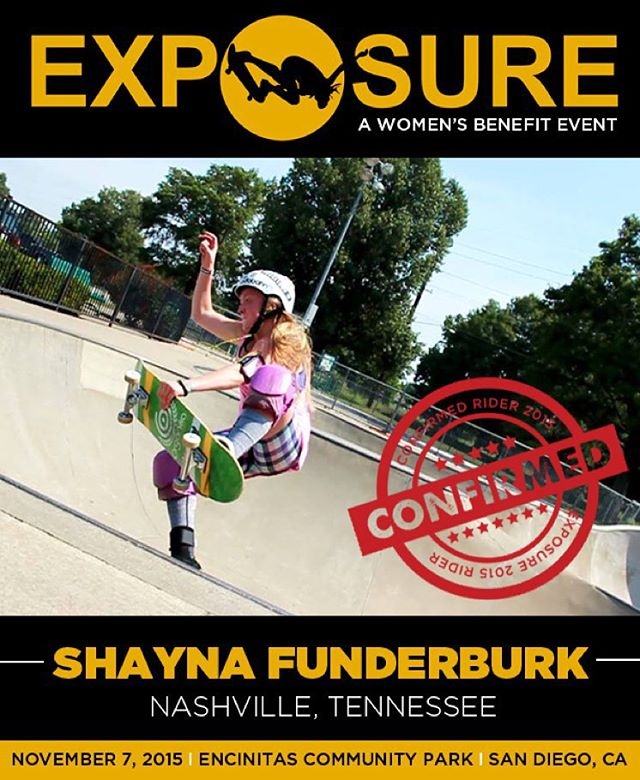 Shayna Funderburk (@thatshaynachick ) confirmed for EXPOSURE 2015!