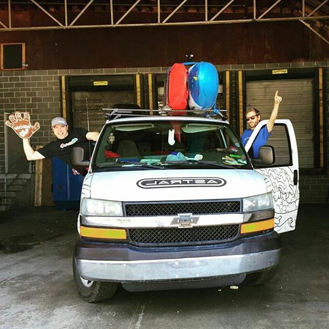 Wishing we could be loading up the #shred #wagon for #Gauleyfest2015 like the @astralwhitewater guys.  Share some #stoke with us with the hashtag #cuzrockshurt!  Happy #shredding and be safe.
