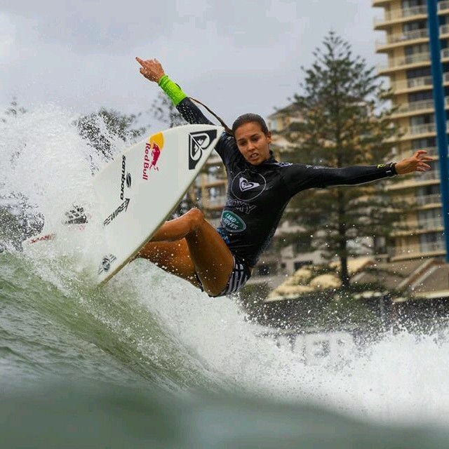 Sally Fitzgibbons from the water!