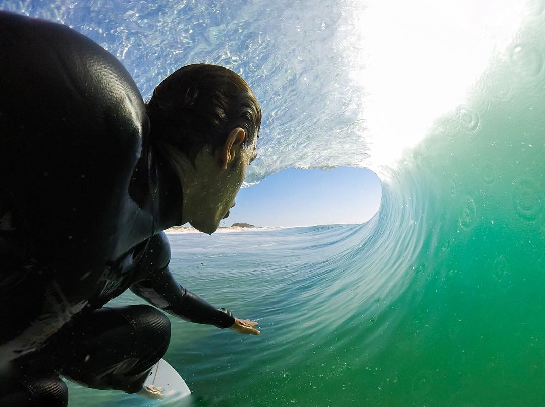 GoPro Featured Photographer - @snapair  About the Shot - Barrel Selfie: One morning this past summer, I went out to a secret spot for a quick surf check.  It looked nice and clean with a few empty barrels and not another person in the water. After...