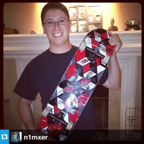 Check out our @xgames contest winner @n1mxer with his new #goodpeople #xgames board