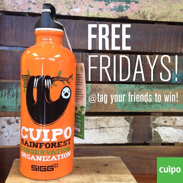 Tag your friends in the comments to win this cuipo sloth SIGG bottle. Visit Cuipo.org to purchase. #freefriday #cuipo #sigg #saverainforest @siggswitzerland