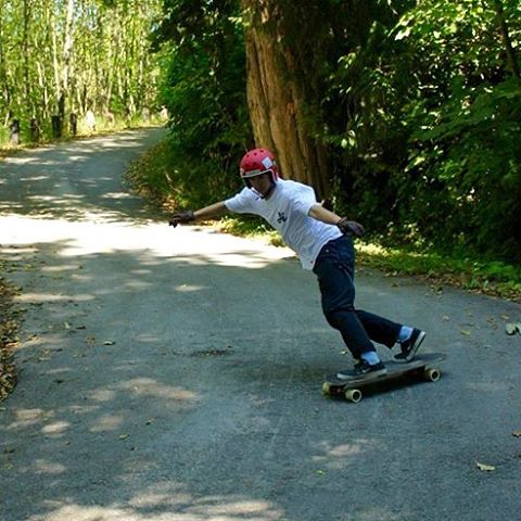 Flow rider @andyggrant slides one backside amongst the trees up in #Vancouver BC. #paristrucks #paristruckco