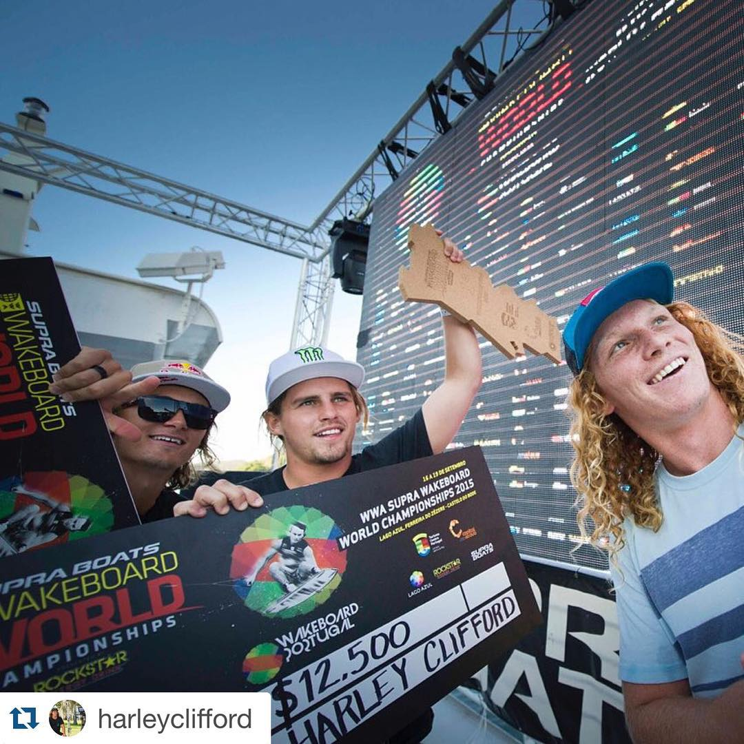 Congrats @harleyclifford !! ・・・ Wow! I won the world championships today so amped! 3 years in a row!! A dream come true. Thank so much to everyone who helps support me and our sport of Wakeboarding especially my sponsors @liquidforcewake @bodyglovewake...