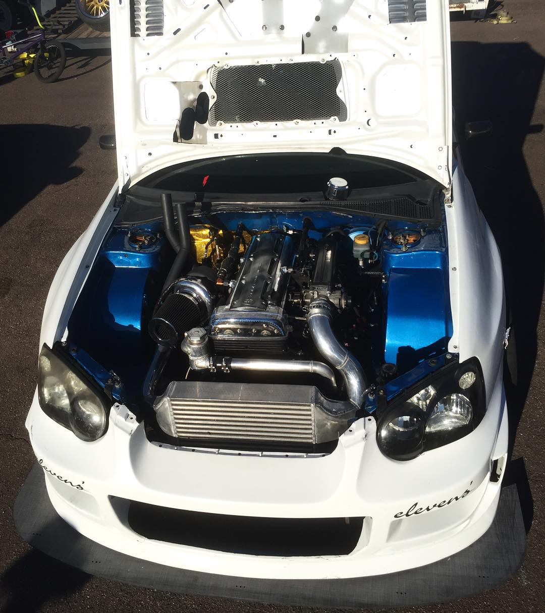 Just in case you didn't believe there was a 2JZ in that STI we showed you earlier. Yay or nay?#SupportHooniganism