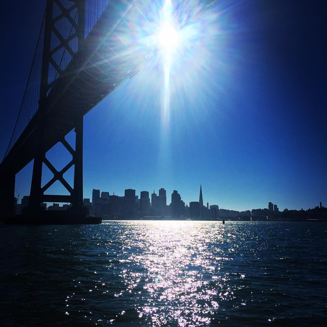 Van Morrison's Mama said there'd be days like this #sanfrancisco #dayslikethis #sailing #thegoodlife