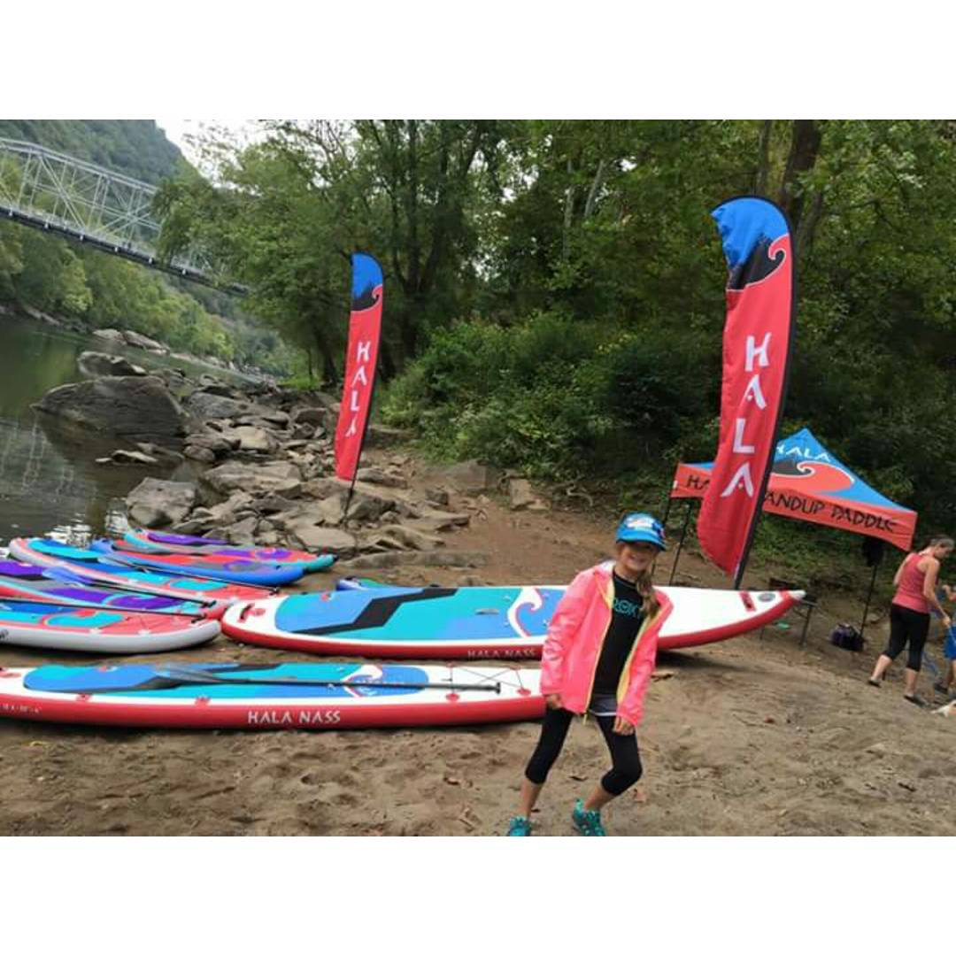 Getting ready for the New River Gorge Race! Come out and demo a Hala Board at Fayette Station!