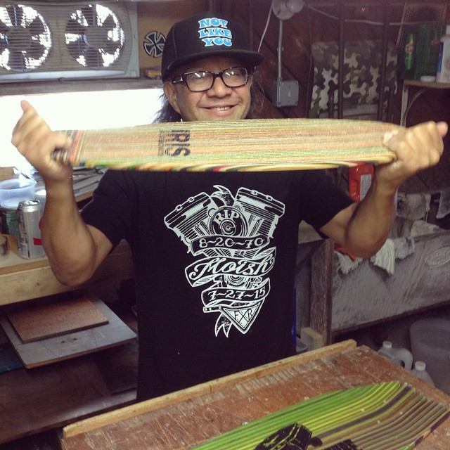 My good friend friend and legendary skate rocker Ray Stevens dropped by Iris HQ today! I grew up listening to his music. The Faction and Drunk Injuns were always on heavy rotation! @the_faction_official @steviecab #recycledskateboards #irisskateboards