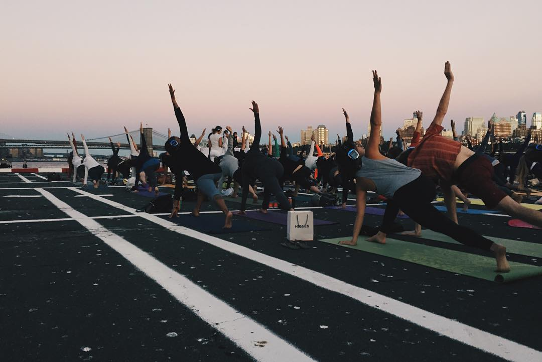 And so it begins. #HelipadYoga @soexperience