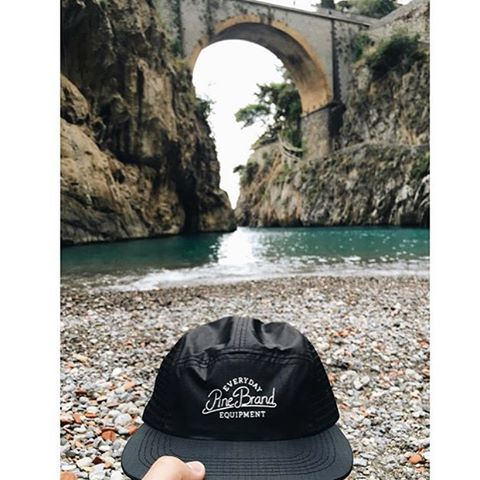 Our buddy @william_bender is conducting further field testing on our soon-to-be-released Breeze cap in Italy.  Honeymoon functionality ✔️ // #pinebrand #EverydayEquipment #MadeInUSA