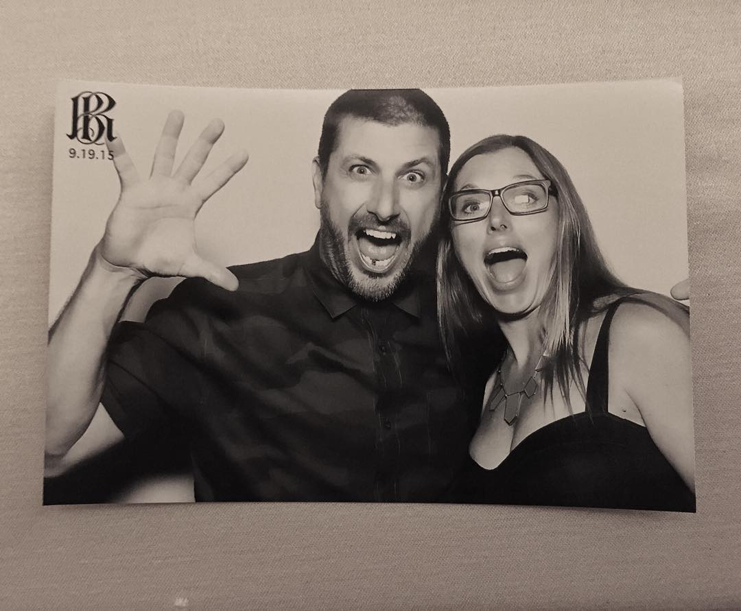 She's a keeper! Ha. Wifey and I making faces for Rob and Bryinana's wedding guest book. #myrideordie #dontstaytooserious #herecomethedyrdeks