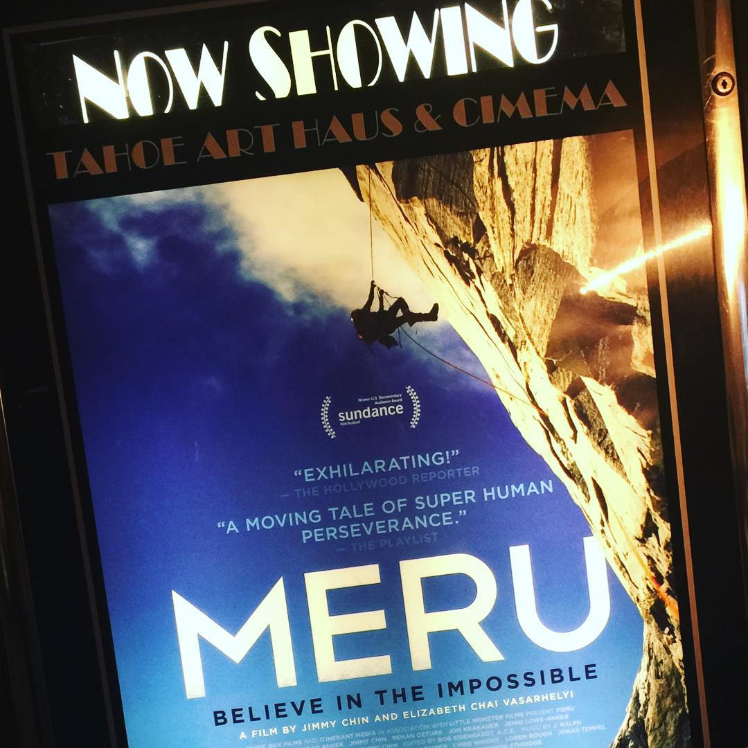 #Wow... For any human with a desire to set and achieve goals, no matter how terrifyingly formidable the many obstacles may seem, #Meru film is for you... Kudos & gratitude @jimmy_chin, @conrad_anker, @renan_ozturk and team.  @tahoearthaus | #merufilm