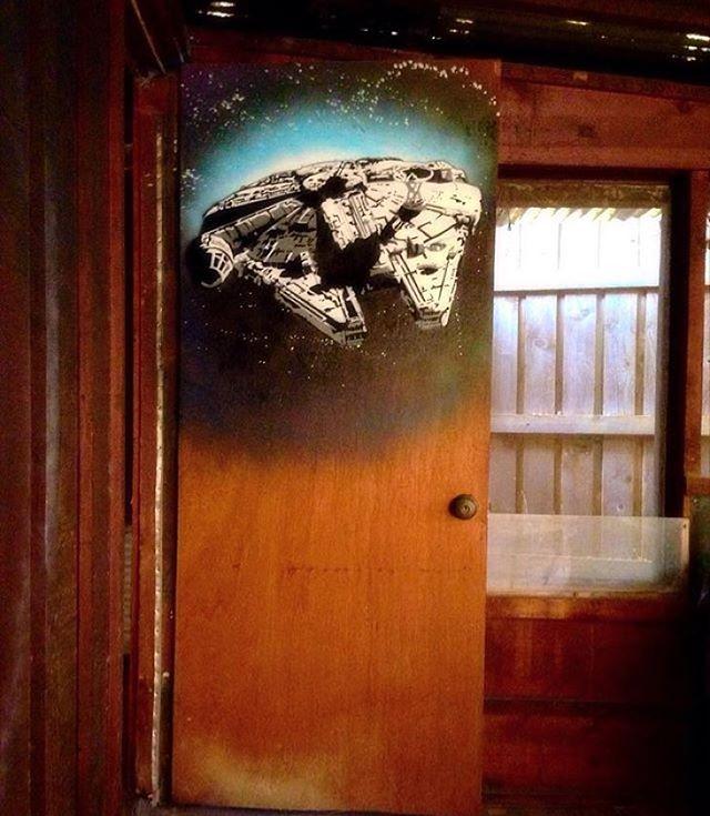 @n8pollock • • #atx #austintx #texas #tx #spratx #starwars #stencil #art #design