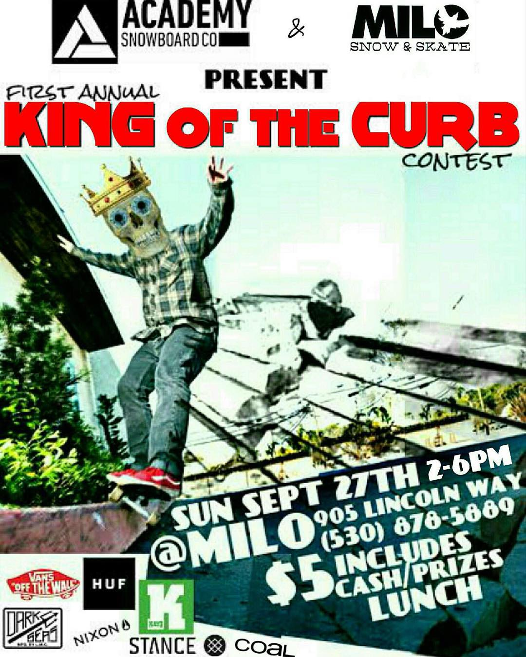 Staying true to our roots we are one of the only snowboard companies that is supporting grassroots skateboarding.  Get out to @milo_auburn this Sunday for King Of The Curb! #supportlocal @_breakfree_