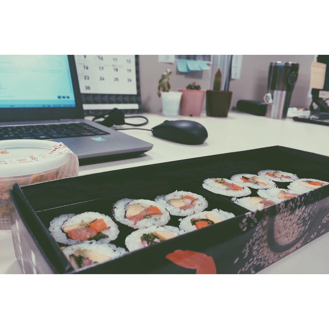 Que rico sushi vegan comi hoy