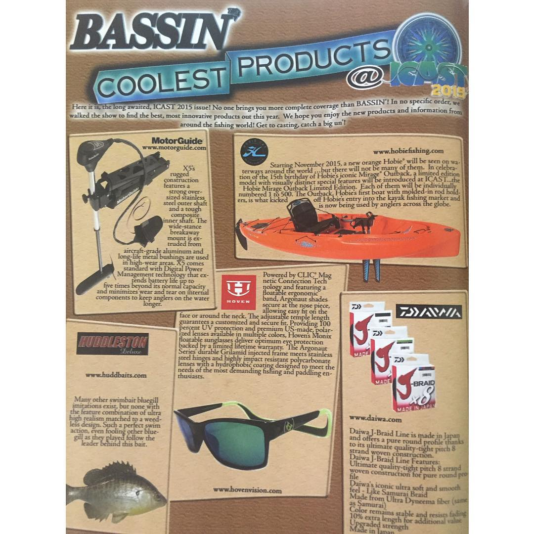 We made the cool list at iCast fishing trade show! Thanks for all the support