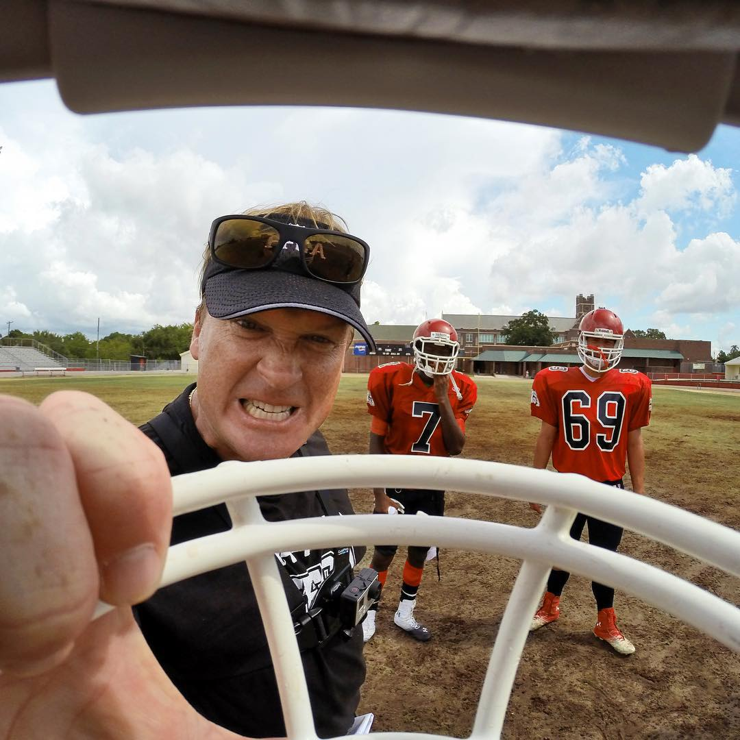 Super Bowl-winning coach Jon Gruden brings the intensity on Monday Night! #GoPro #NFL #MNF